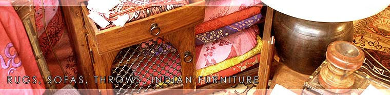 RUGS, SOFAS, THROWS, INDIAN FURNITURE